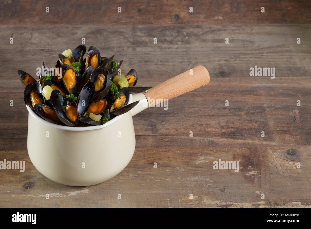 Dish, mussels - Stock Image