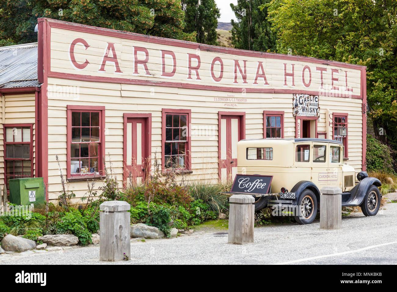 new zealand cardrona hotel in a former goldrush town Crown Range road cardrona New Zealand South Island - Stock Image