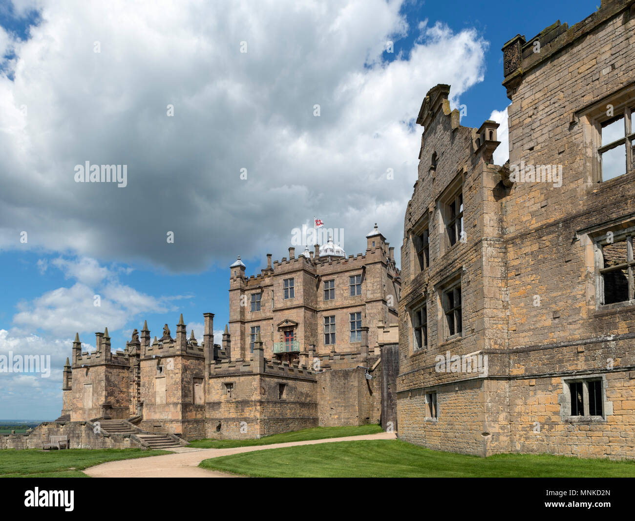 Historic 17th century Bolsover Castle, Bolsover, Derbyshire, England, UK - Stock Image
