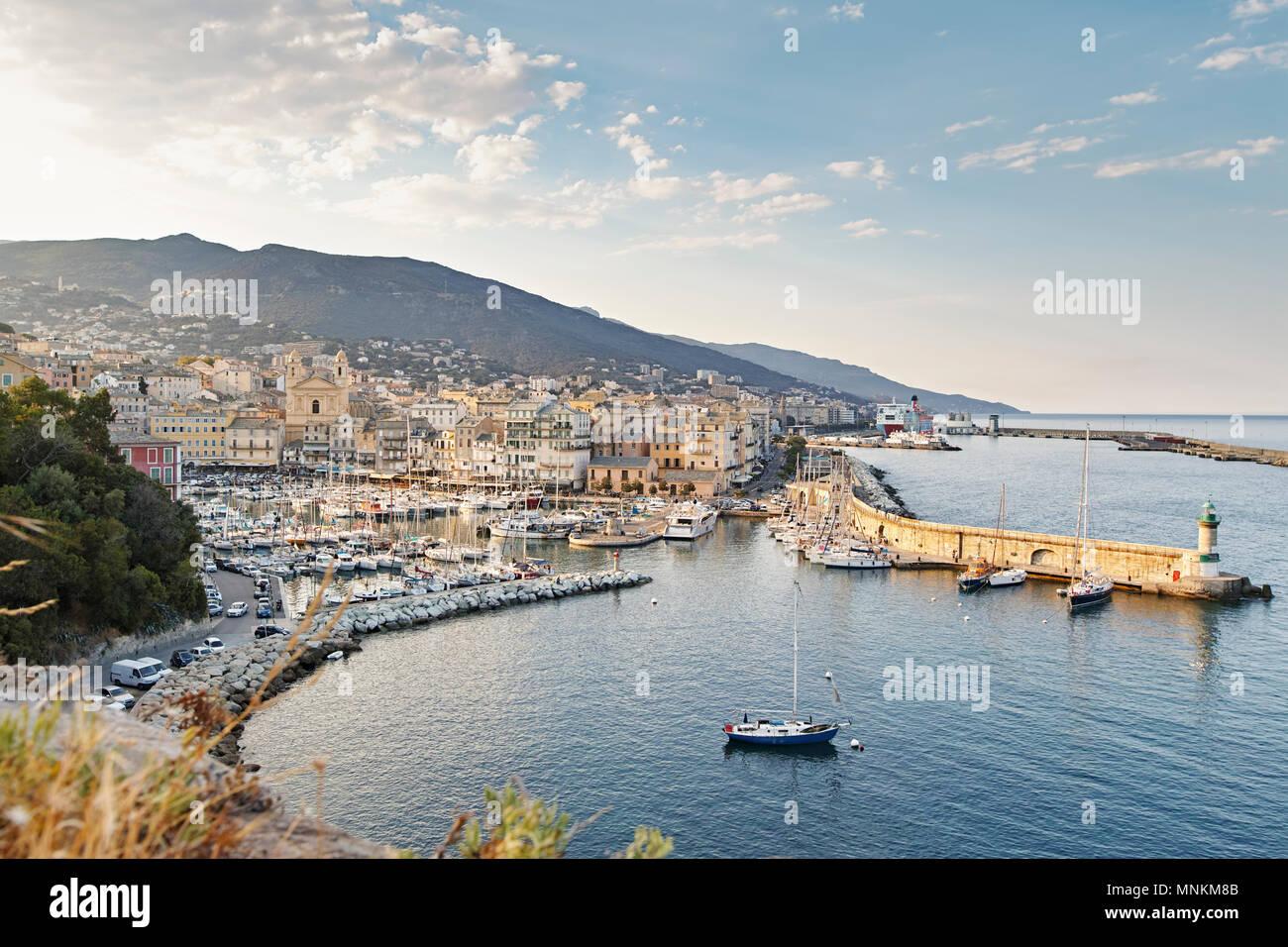 Bastia Port, Corsica France - Stock Image