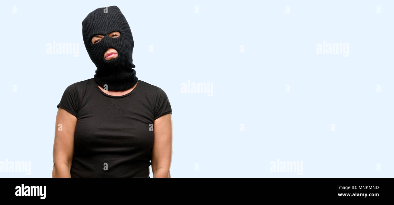 Sad Woman Wearing Face Mask Stock Photos & Sad Woman Wearing Face