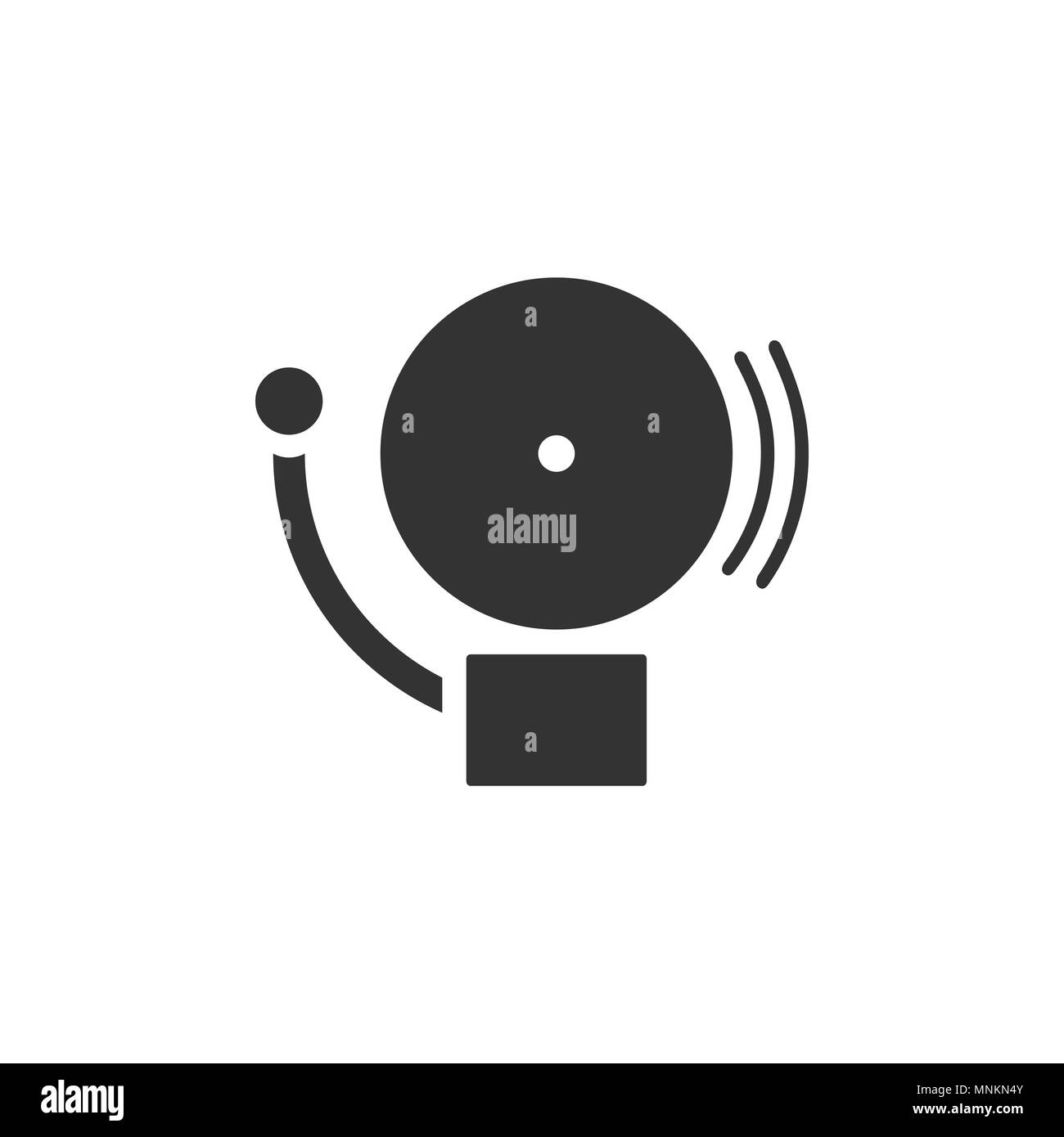 Alarm icon on a white background. Vector illustration - Stock Image