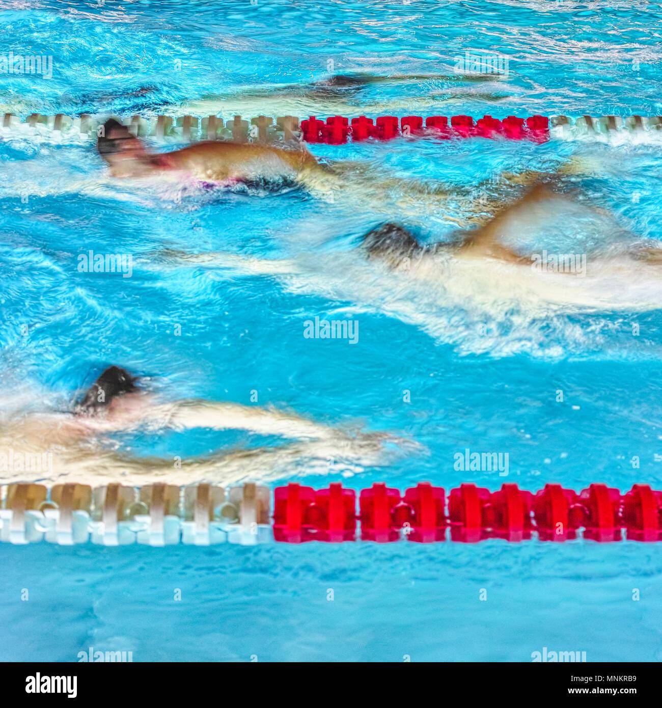 Sport in swimmingpool - Stock Image