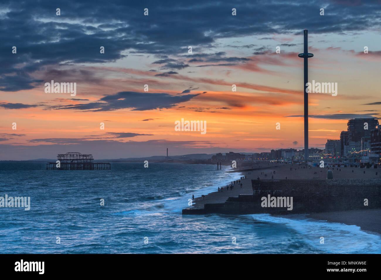 Brighton after sunset Stock Photo