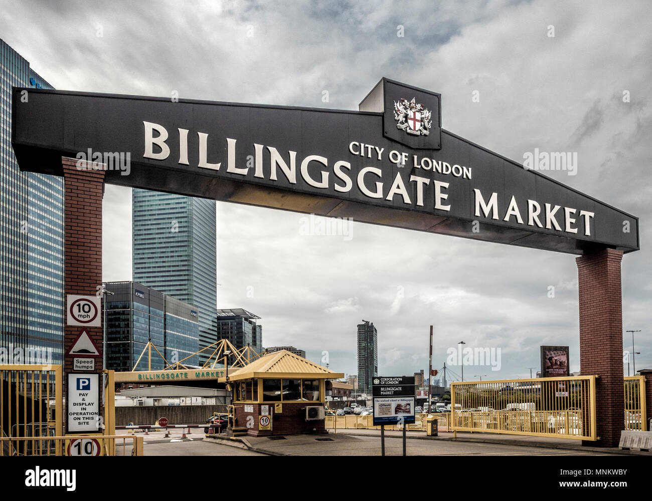 Billingsgate Market, Poplar, Isle of Dogs, London, UK. - Stock Image