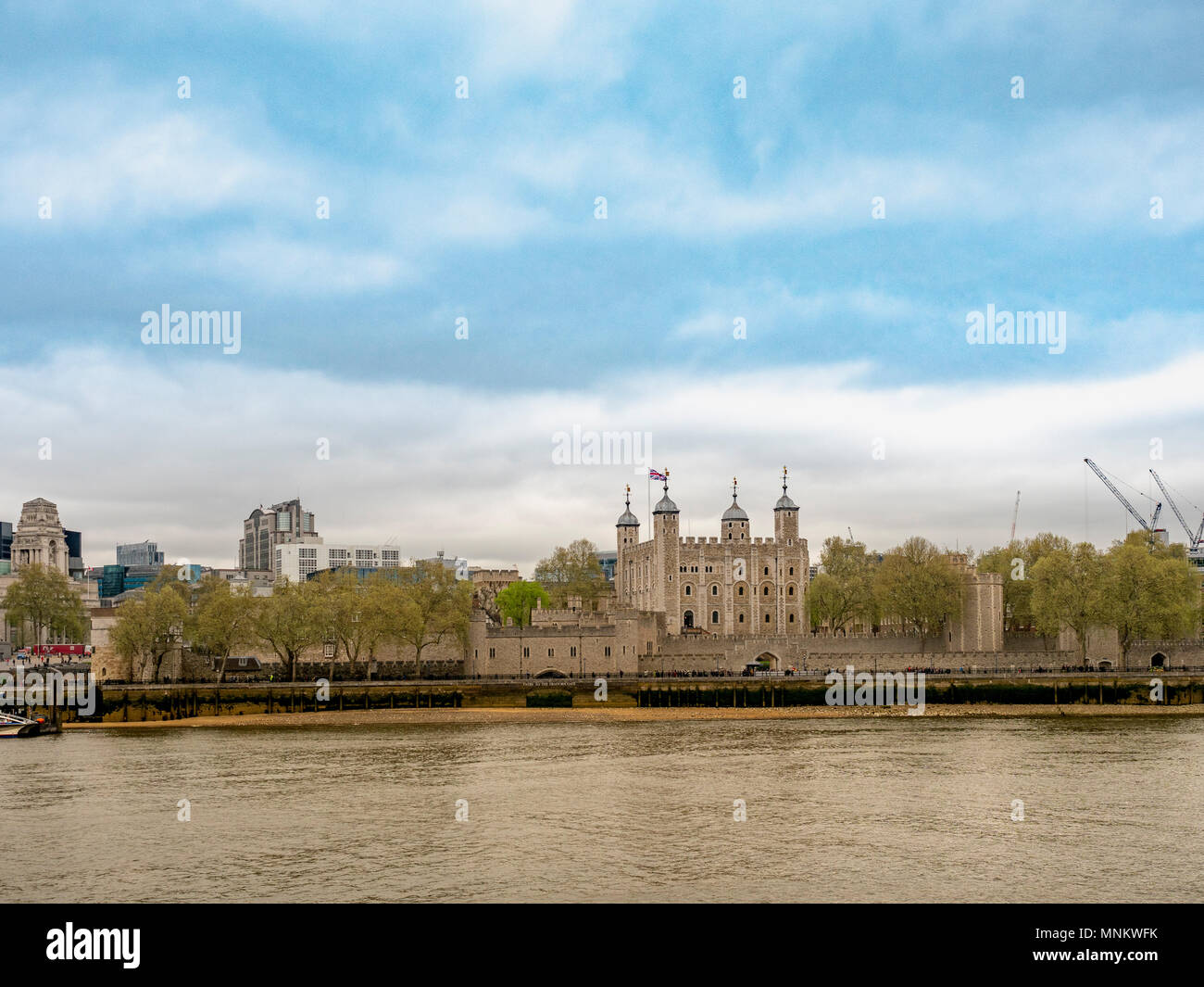 The Tower of London and River Thames, London, UK. Stock Photo