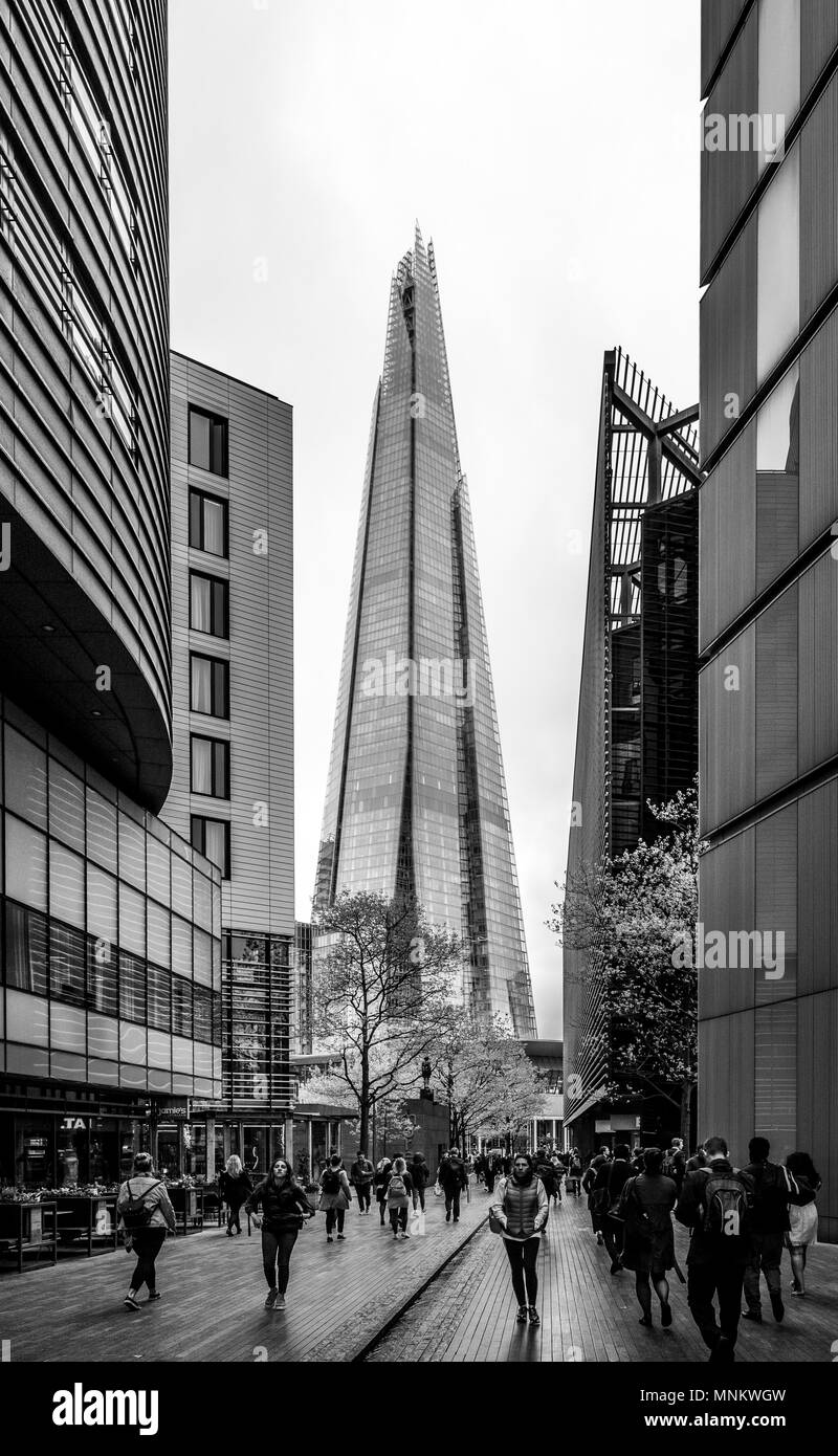 The Shard, viewed from More London Place, Southwark, London, UK. - Stock Image