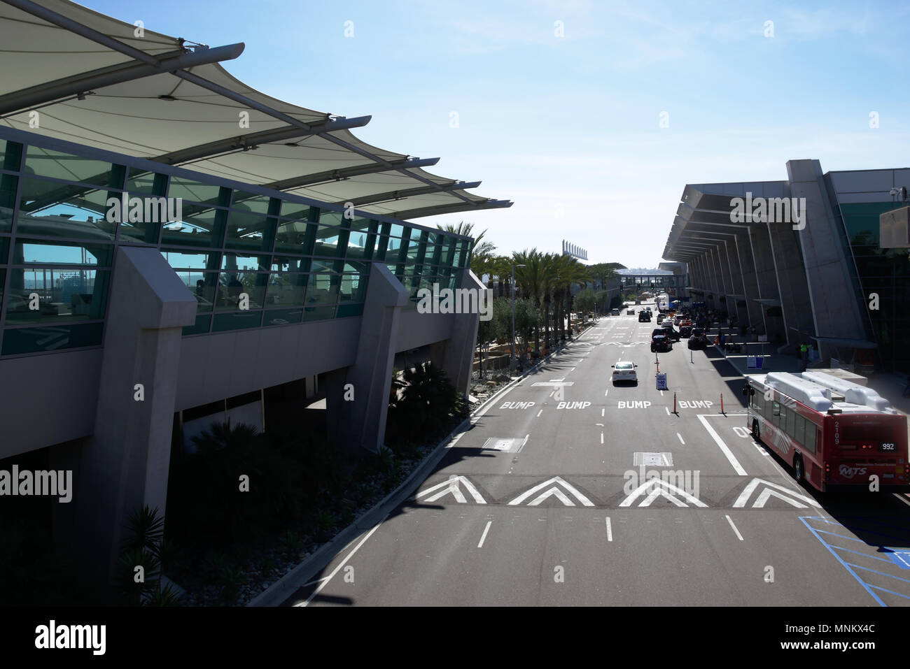 Arrival area of San Diego Airport - Stock Image