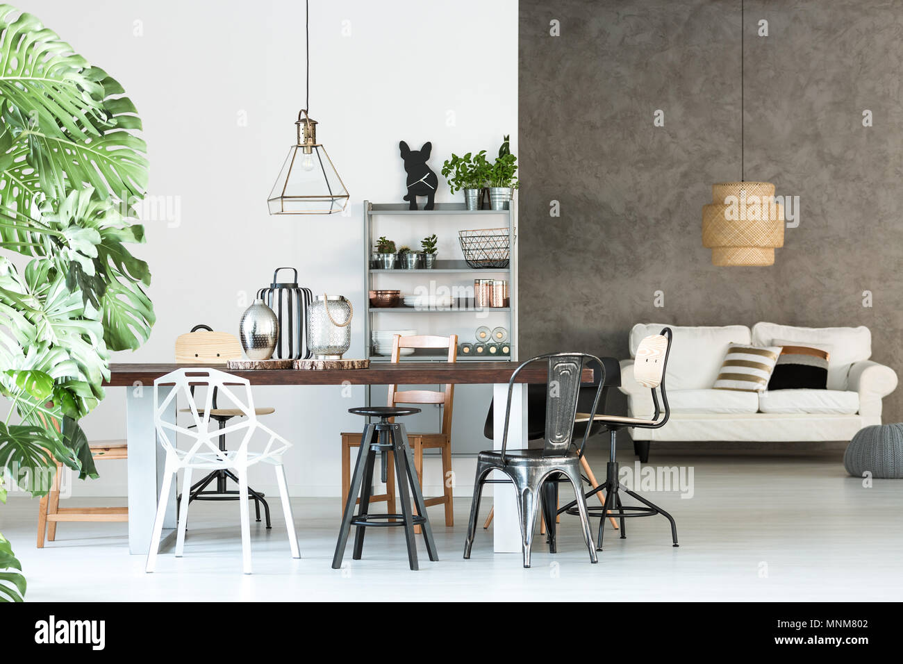 Multifunctional Loft With Open Dining Room And Living Room