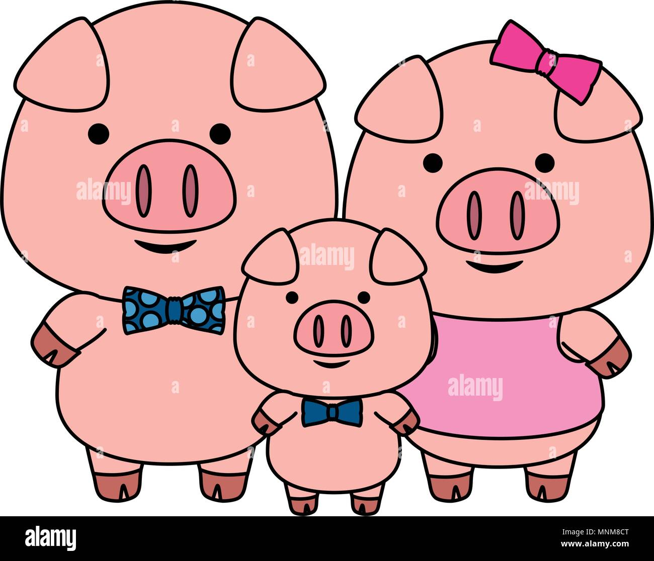 Little Pigs Stock Vector Images - Alamy