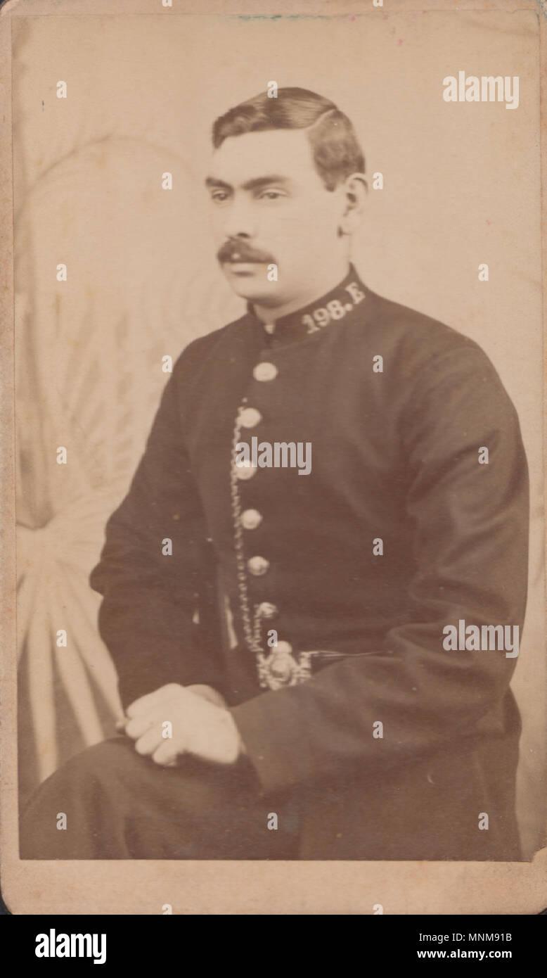 CDV Carte De Visite Of A Victorian Policeman Collar No 198E