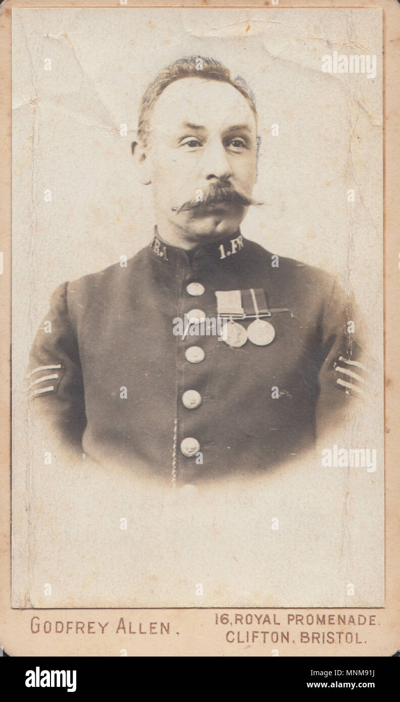 Bristol CDV Carte De Visite Of A Victorian Police Sergeant Wearing Two Medals