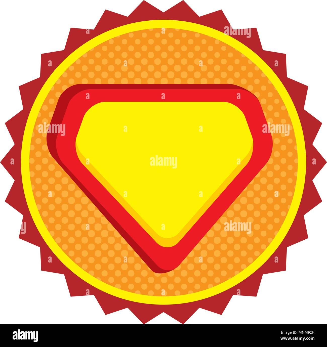 super hero shield emblem - Stock Vector