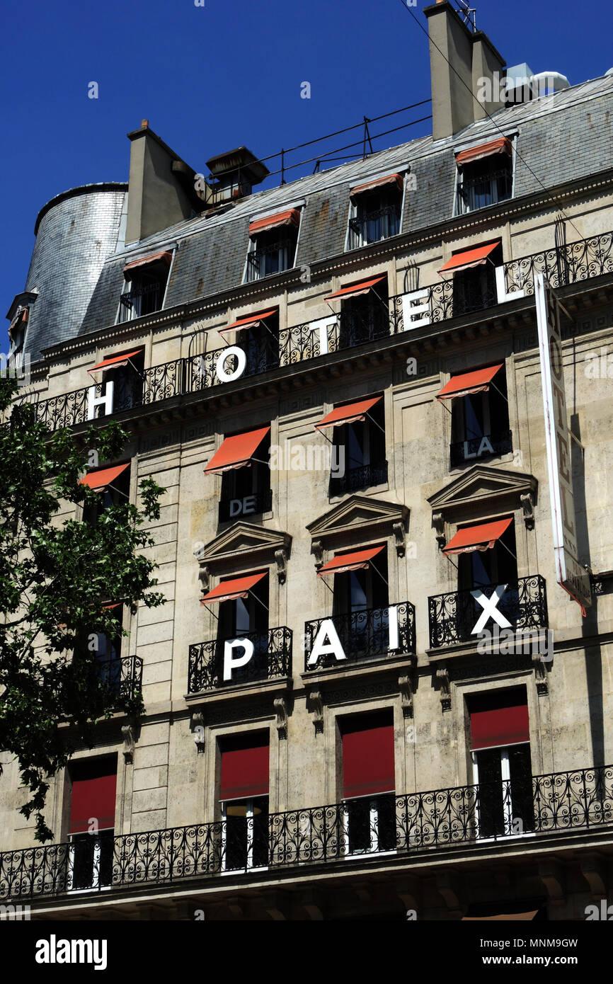 PARIS FRANCE - PARIS HOTEL - PARIS FAMOUS HOTEL DU NORD ALONG CANAL ST MARTIN - PARISIAN HOTELS - PARIS SMALL HOTEL © Frédéric BEAUMONT Stock Photo