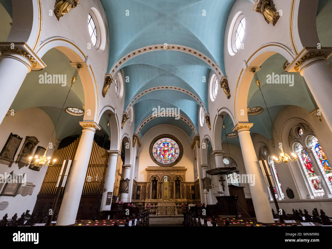St Michaels Church Cornhill London UK Historic In The City Of Designed By Wren And Hawksmoor With Neo Gothic Interior