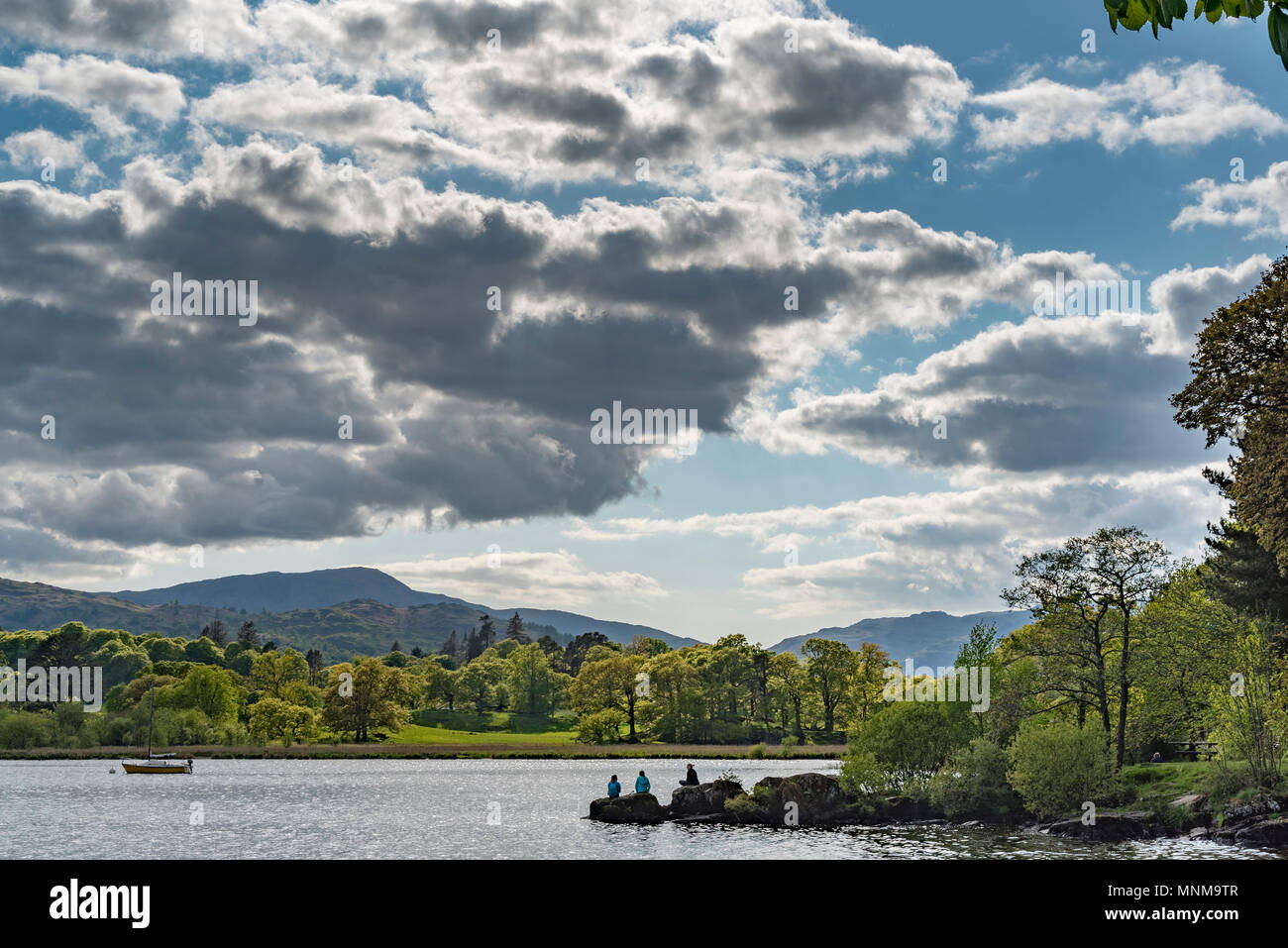 Ambleside evening clouds - Stock Image