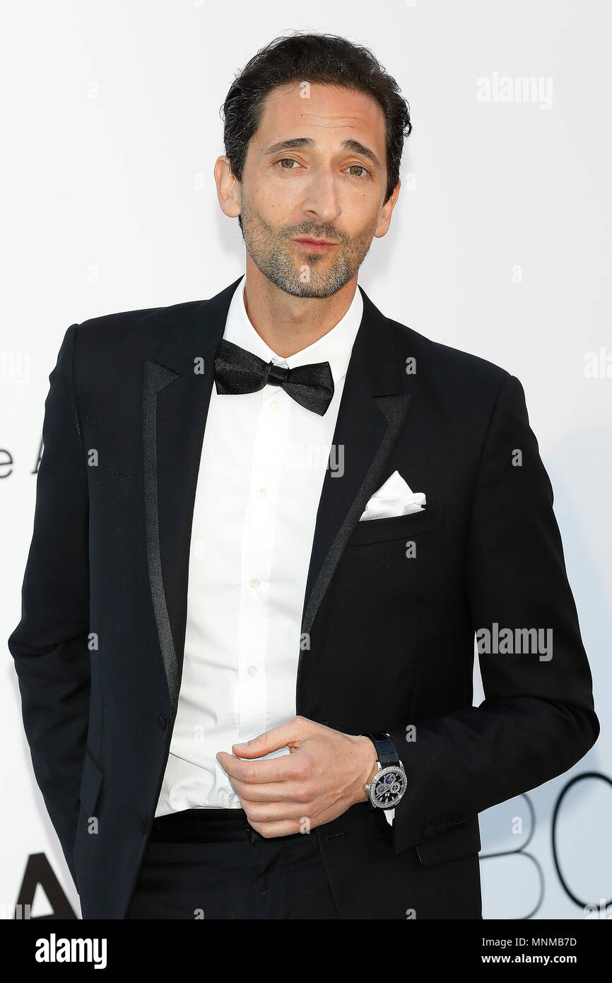 Adrien Brody at the amfAR 25th Annual Cinema Against AIDS gala at the Hotel du Cap-Eden-Roc in Cap d'Antibes, France, during the 71st Cannes Film Festival in Cannes, France. Credit: John Rasimus / Media Punch ***FRANCE, SWEDEN, NORWAY, DENARK, FINLAND, USA, CZECH REPUBLIC, SOUTH AMERICA ONLY*** - Stock Image
