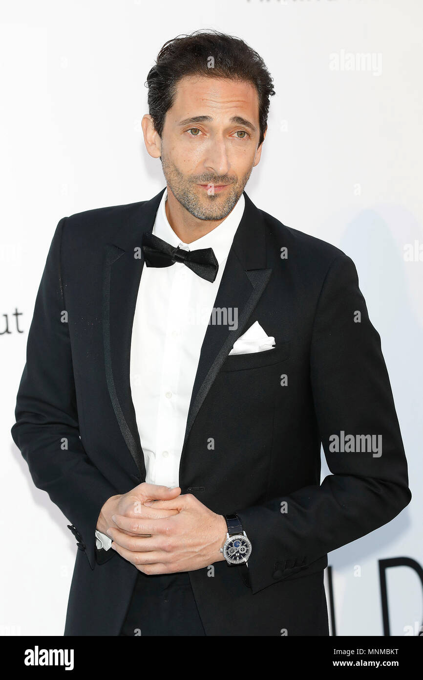 Adrien Brody at the amfAR 25th Annual Cinema Against AIDS gala at the Hotel du Cap-Eden-Roc in Cap d'Antibes, France, during the 71st Cannes Film Festival in Cannes, France. Credit: John Rasimus/Media Punch ***FRANCE, SWEDEN, NORWAY, DENARK, FINLAND, USA, CZECH REPUBLIC, SOUTH AMERICA ONLY*** - Stock Image