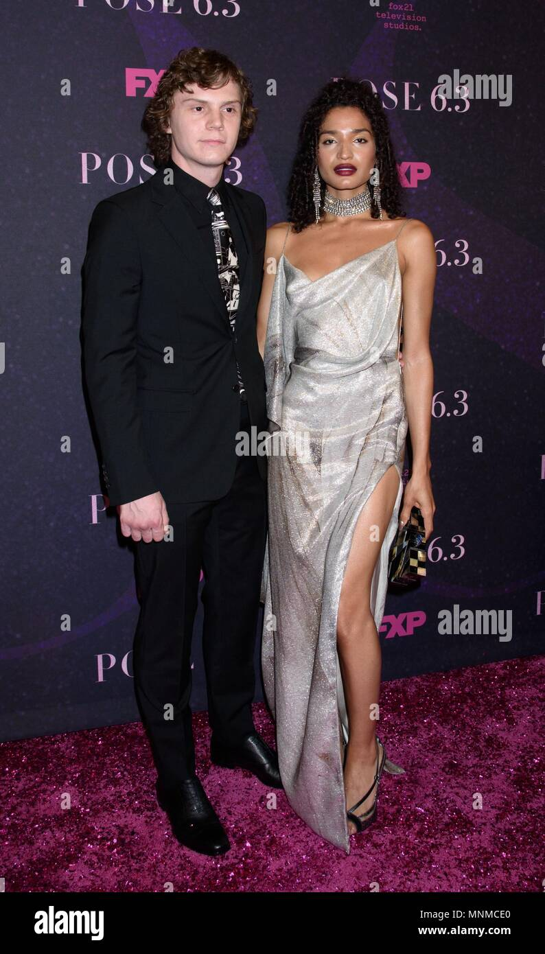 New York, NY, USA. 17th May, 2018. Evan Peters, Indya Moore at arrivals for POSE Series Premiere on FX, Hammerstein Ballroom at Manhattan Center, New York, NY May 17, 2018. Credit: RCF/Everett Collection/Alamy Live News Stock Photo