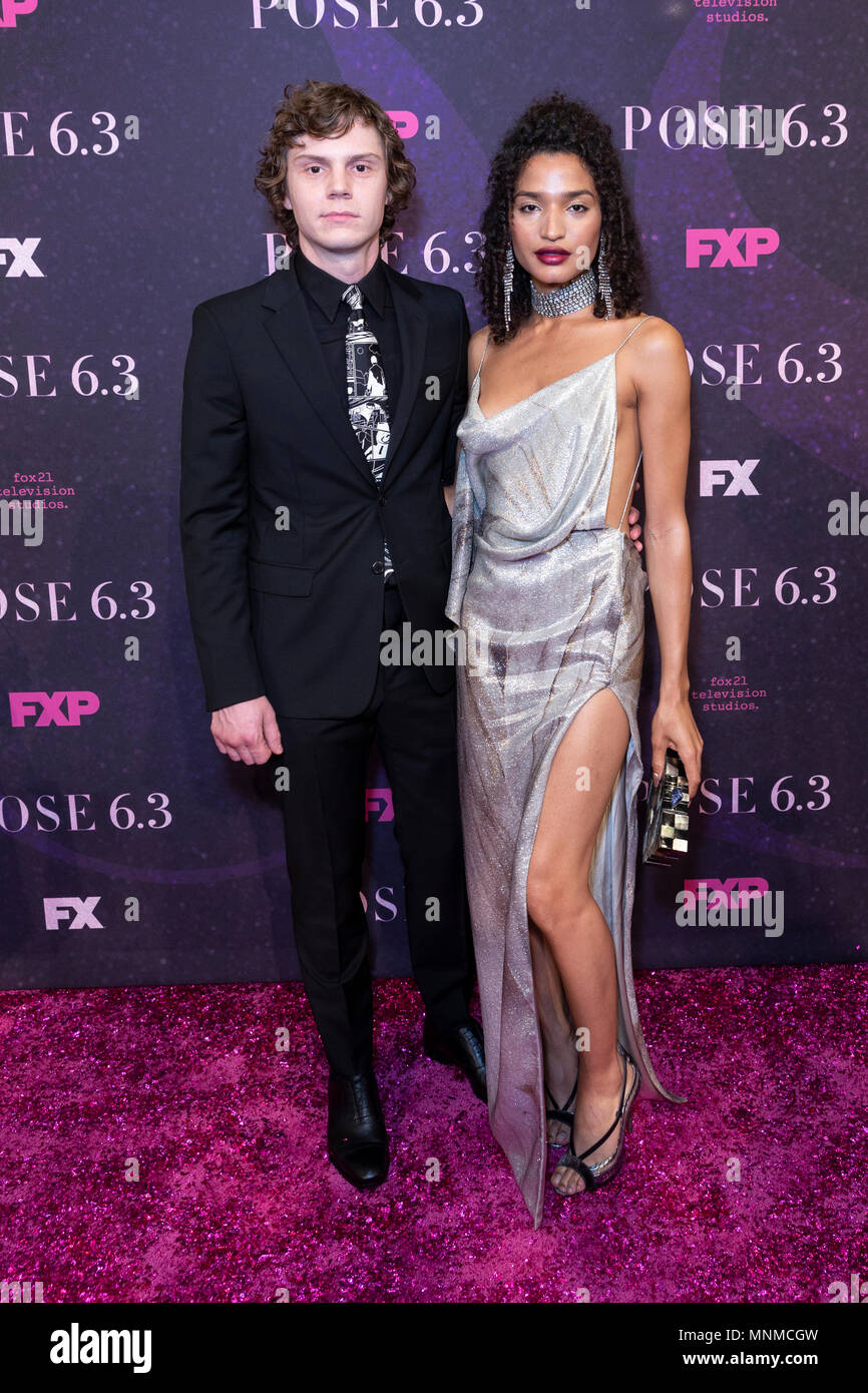 New York, NY - May 17, 2018: Evan Peters and Indya Moore attends FX Pose premiere at Hammerstein Ballroom Credit: lev radin/Alamy Live News Stock Photo