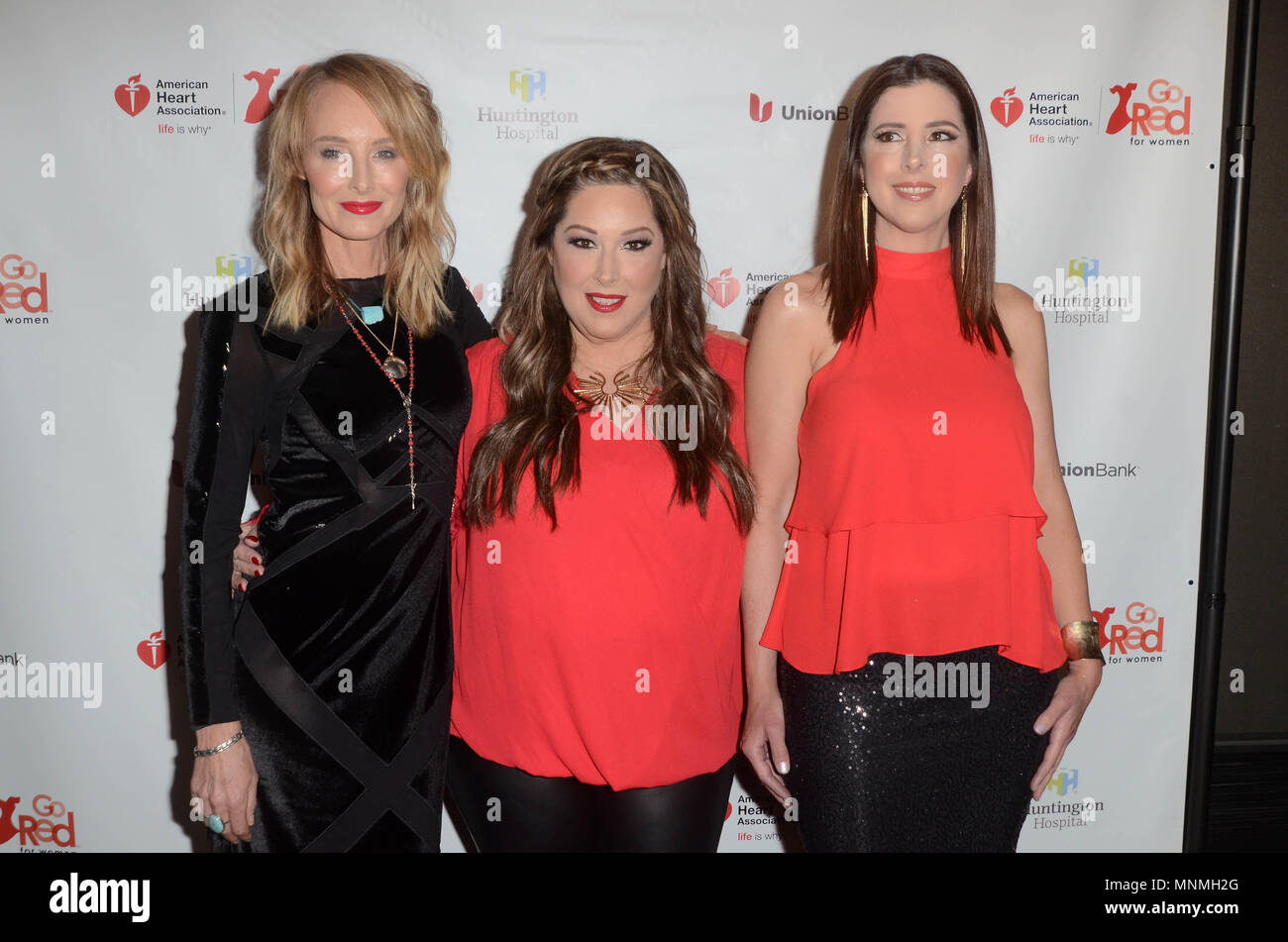 Hollywood, Ca. 17th May, 2018. Chynna Phillips, Carnie Wilson and Wendy Wilson at the American Heart Association's 3rd Annual Rock The Red Music Benefit at Avalon in Hollywood, California on May 17, 2018. Credit: David Edwards Media Punch/Alamy Live News - Stock Image