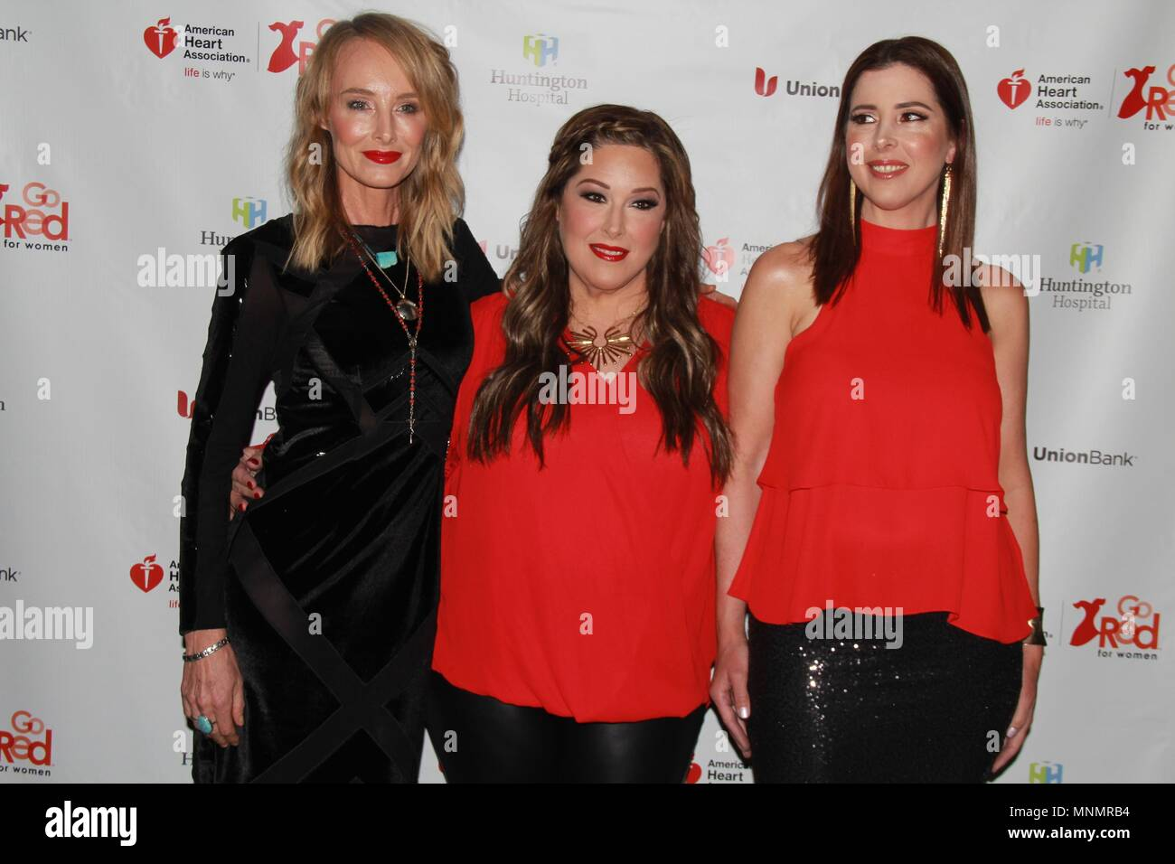 Hollywood, California, USA. 17th May, 2018. I15986CHW.The American Heart Association Presents The 3rd Annual ROCK THE RED Music Benefit .Avalon Hollywood, Los Angeles, CA USA.05/17/2018.CHYNNA PHILLIPS, CARNIE WILSON AND WENDY WILSON . © Clinton H.Wallace/Photomundo International/ Photos Inc Credit: Clinton Wallace/Globe Photos/ZUMA Wire/Alamy Live News - Stock Image