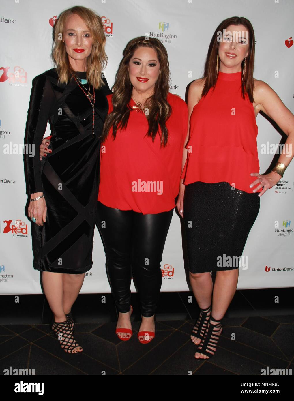 Hollywood, California, USA. 16th May, 2018. I15986CHW.The American Heart Association Presents The 3rd Annual ROCK THE RED Music Benefit .Avalon Hollywood, Los Angeles, CA USA.05/17/2018.CHYNNA PHILLIPS, CARNIE WILSON AND WENDY WILSON . © Clinton H.Wallace/Photomundo International/ Photos Inc Credit: Clinton Wallace/Globe Photos/ZUMA Wire/Alamy Live News - Stock Image