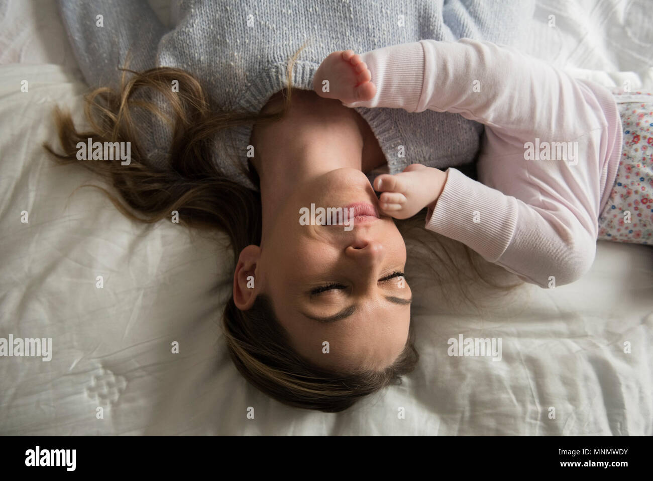 Mother playing with baby (18-23 months) - Stock Image