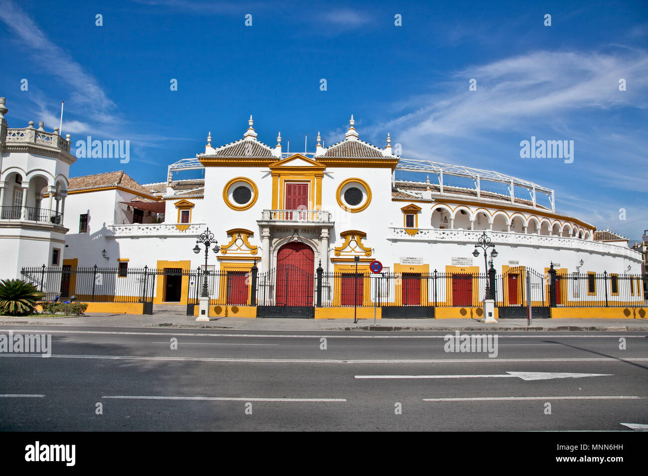 Real Maestranza de Caballeria de Sevilla in Seville, Andalusia,  Spain Stock Photo