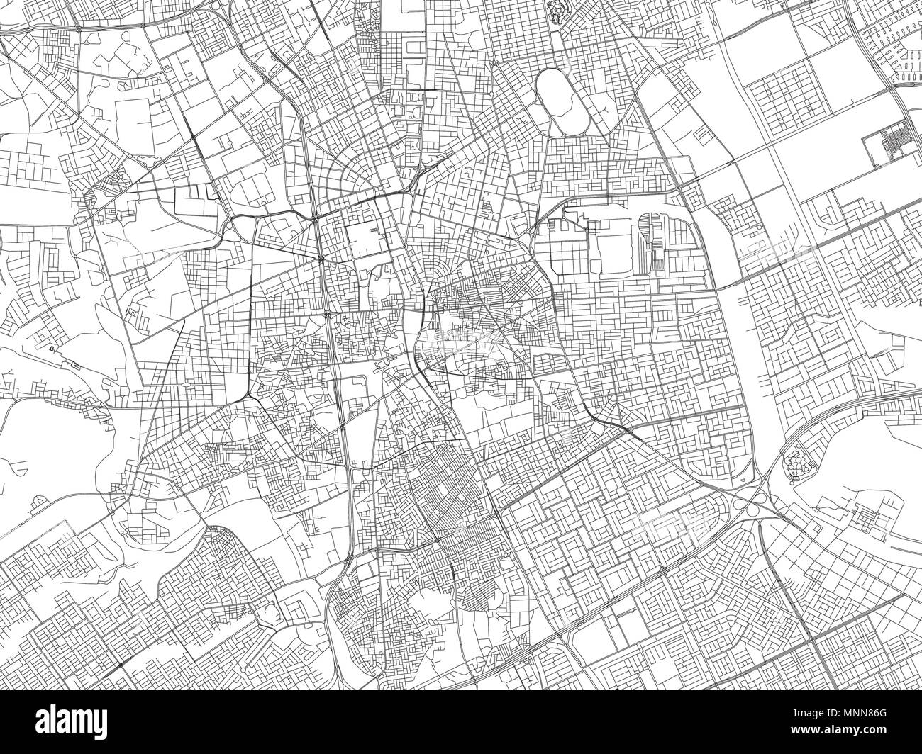 Streets of Riyadh, city map, Saudi Arabia, satellite view ... on middle east map, riyadh on a map, world landforms map, jerusalem map, riyadh street map, damascus map,