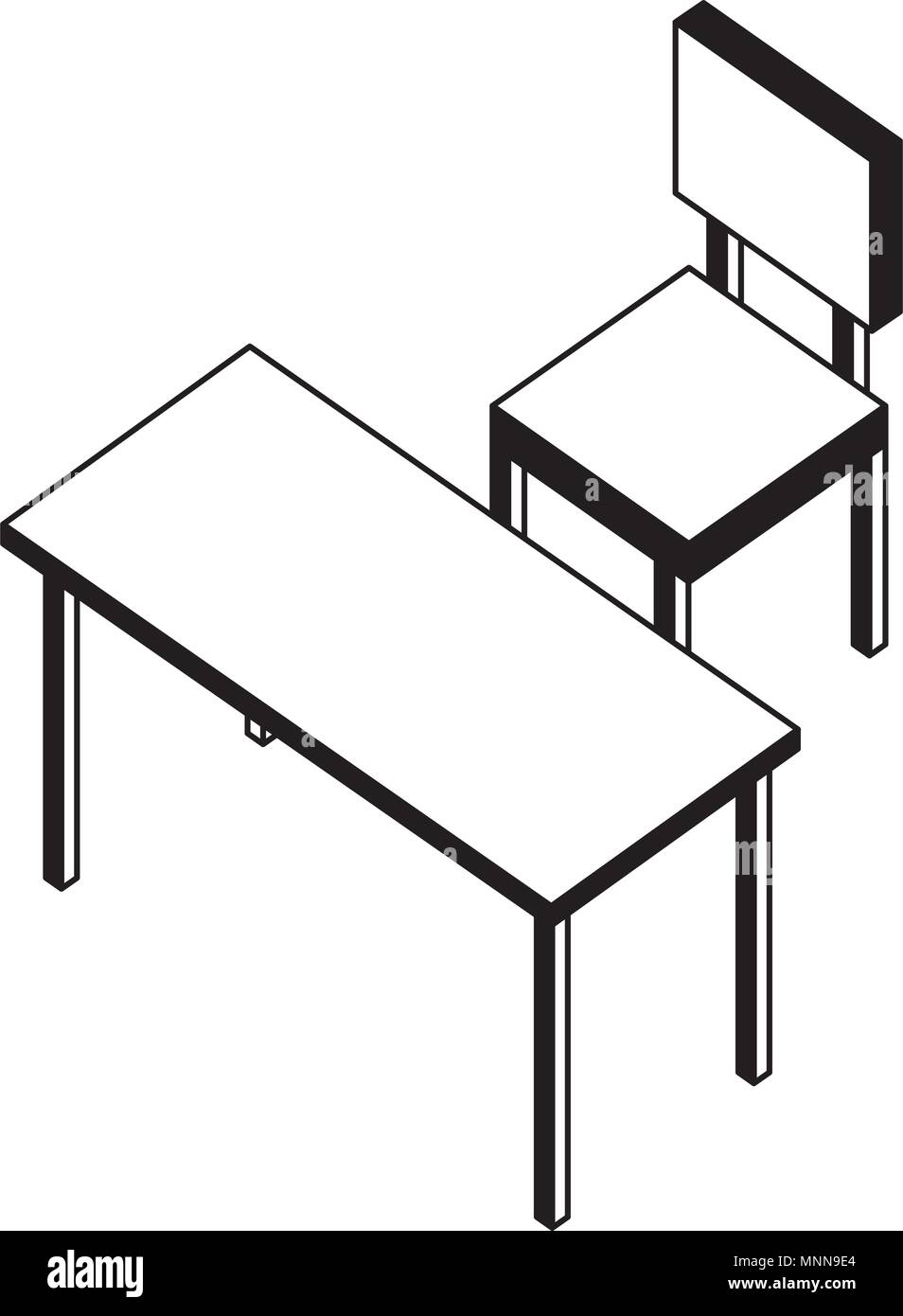 Outstanding Chair Of Four Legged With Table Isometric Icon Stock Vector Onthecornerstone Fun Painted Chair Ideas Images Onthecornerstoneorg
