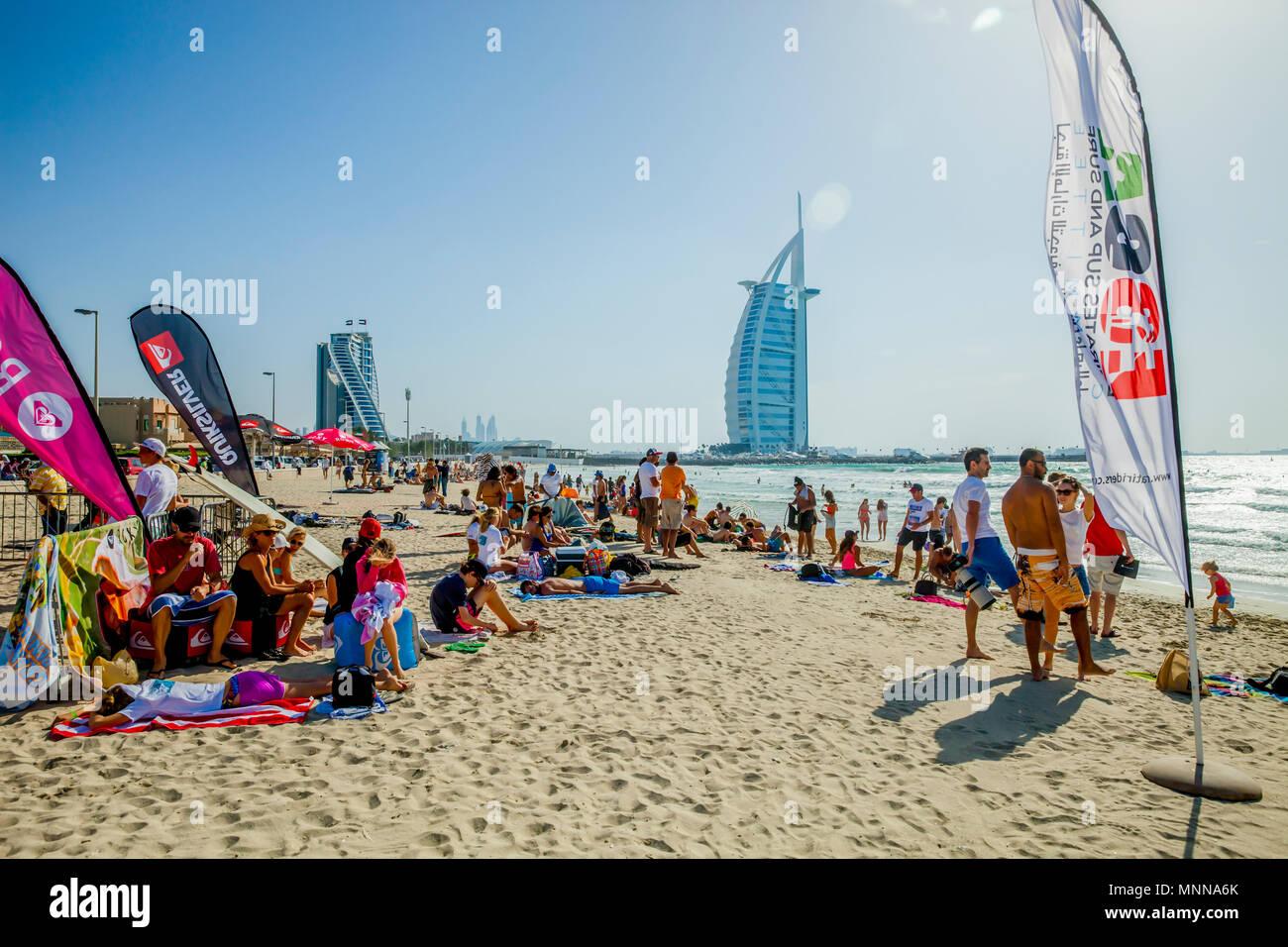 Burj Al Arab, Jumeirah beach, Dubai - Stock Image