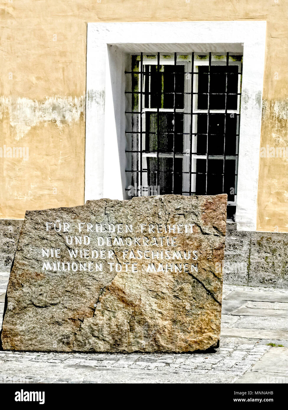 Brauna am Inn (Austria): Hitler's Birthplace; Hitlers Geburtshaus Stock Photo