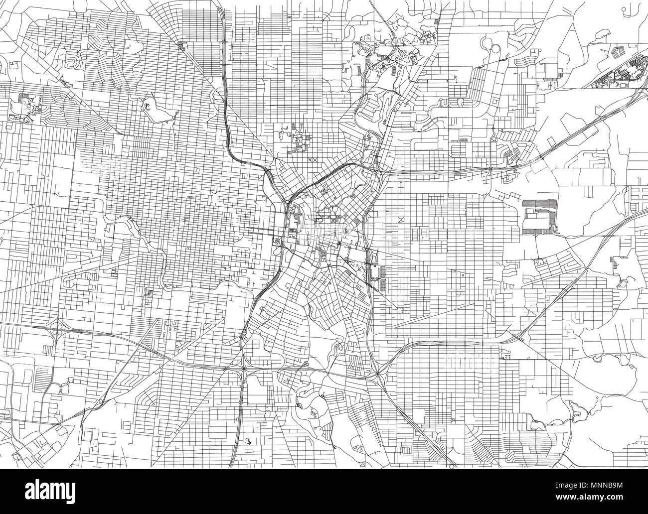 Streets Of San Antonio City Map Texas Roads And Urban Area