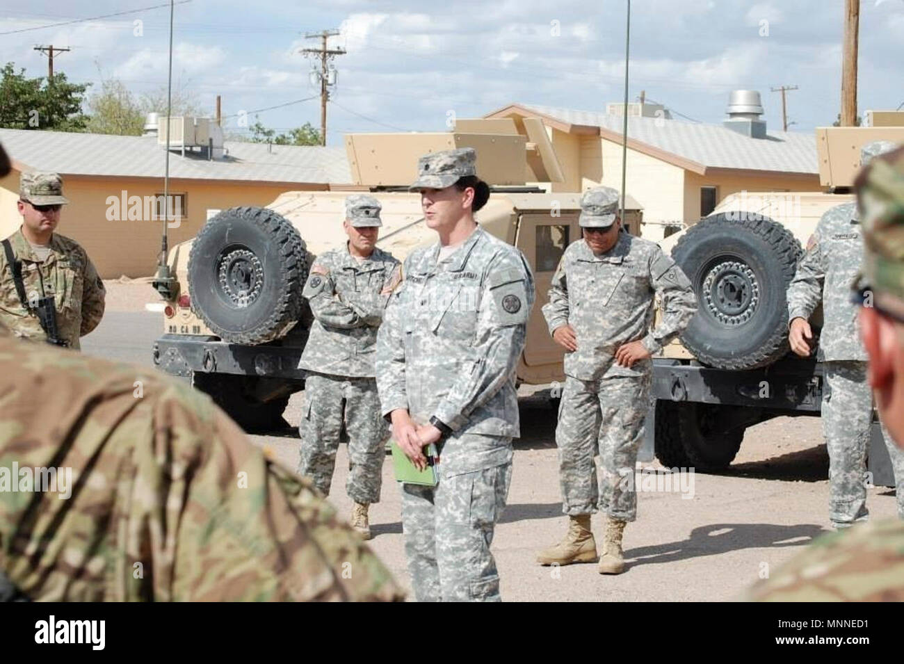 Lt Col Jennifer Mitchell Commander Of The 216th Engineer Battalion Speaks To Soldiers Of The 1191st Engineer Company Who Were Preparing To Deploy Overseas In 2014 Now A Colonel She Is The