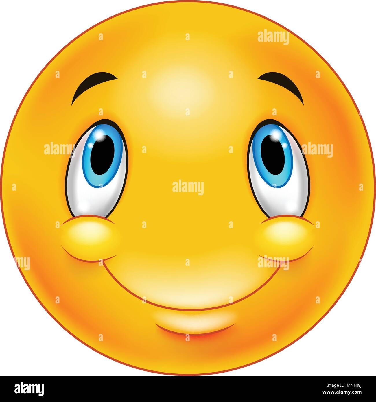 Thinking emoticon smiley - Stock Vector