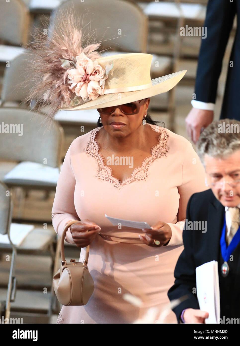 Oprah At Prince Harry Wedding.Oprah Winfrey Arrives In St George S Chapel At Windsor Castle For
