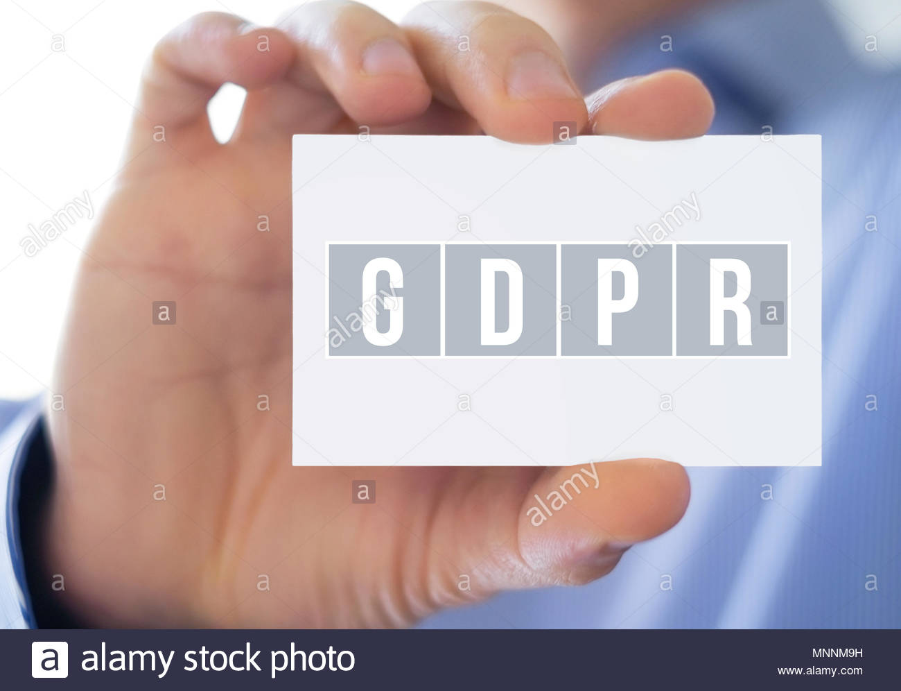 GDPR - General Data Protection Regulation - Stock Image