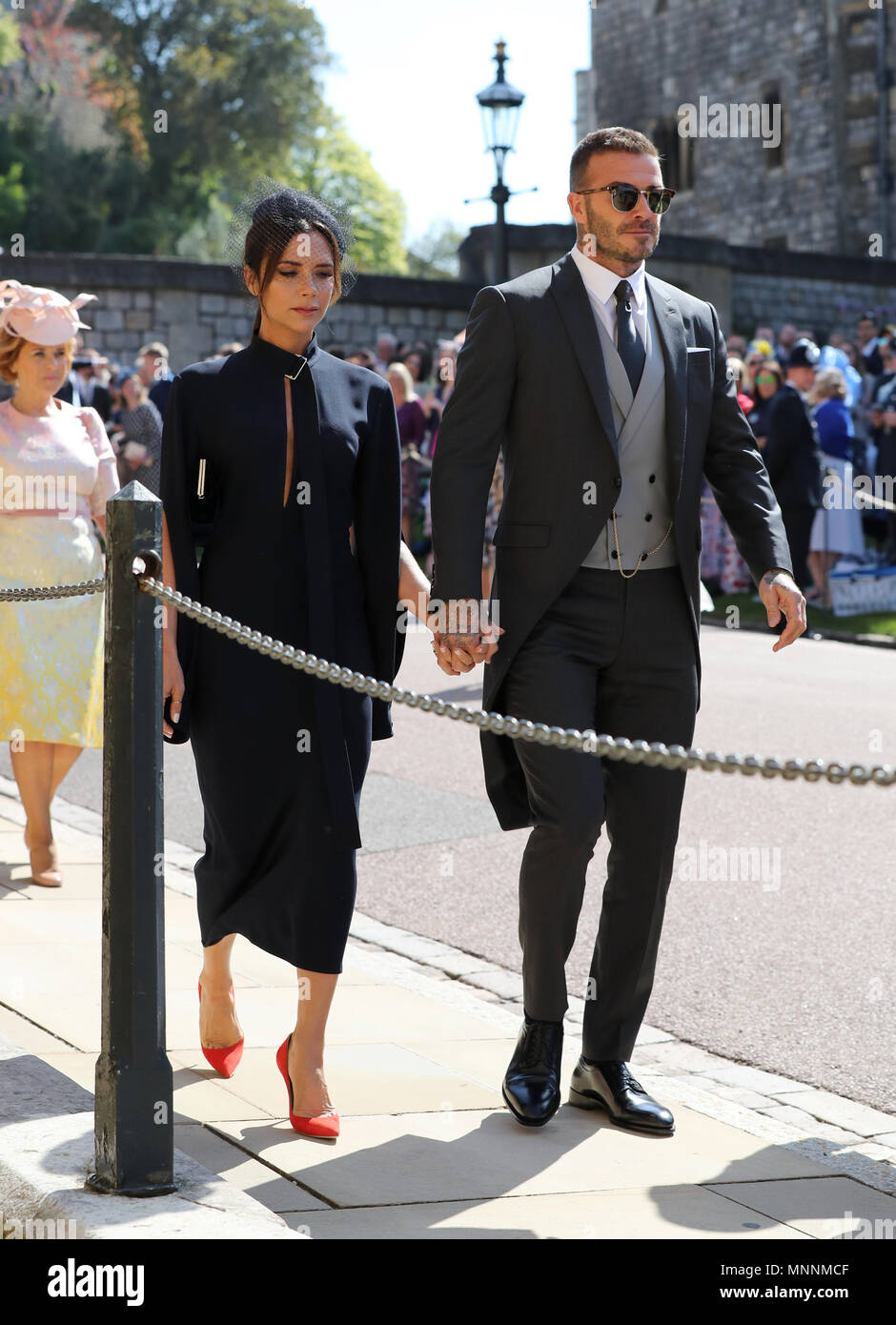 David Beckham And Victoria Beckham Arrive At St George S Chapel At