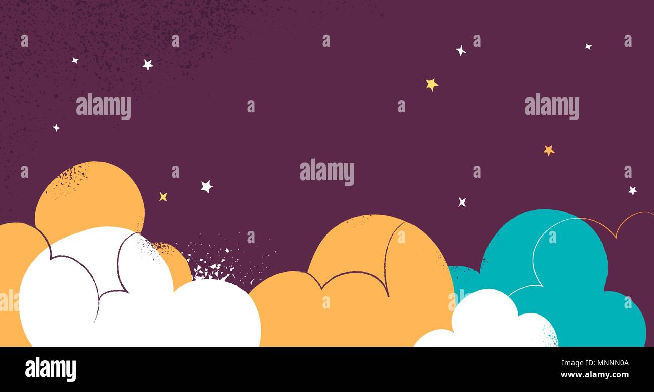 Cloudy sky and very fluffy graphic background - Stock Image