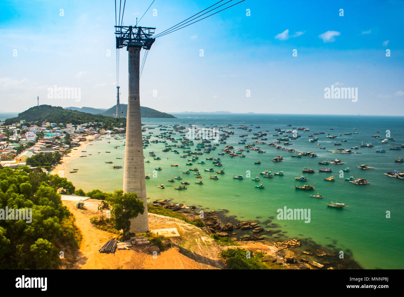 The Longest Cable Car, Phu Quoc Island in Vietnam - Stock Image