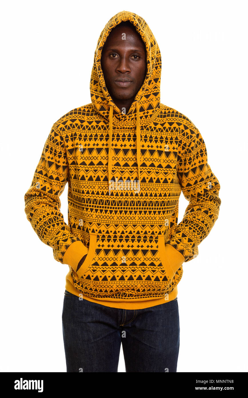 f9dcf78f Young black African man wearing hoodie Stock Photo: 185491860 - Alamy