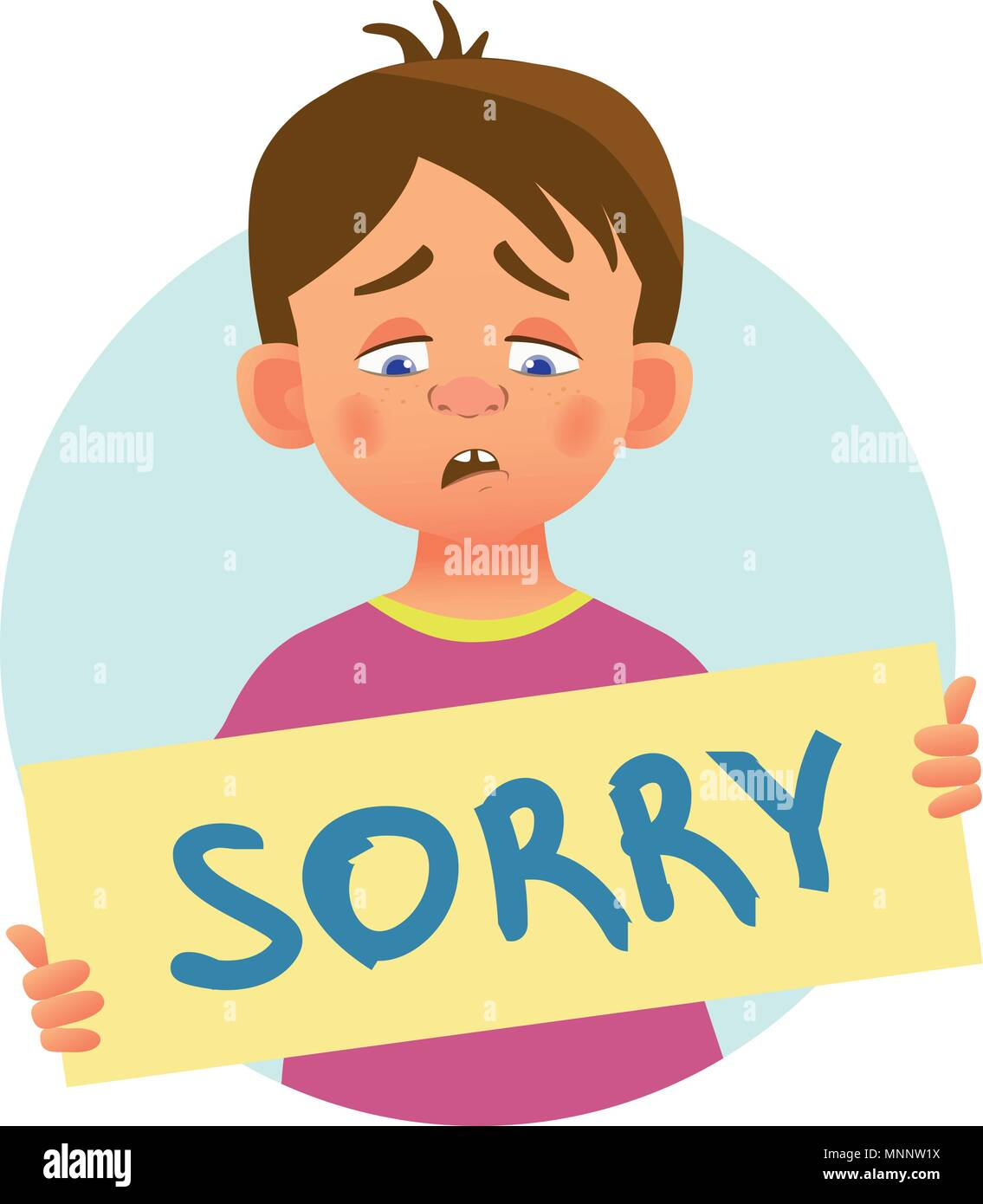 I am sorry message on white background sad boy holding poster with i am sorry message on white background sad boy holding poster with word sorry conceptual handwritten message thecheapjerseys Images
