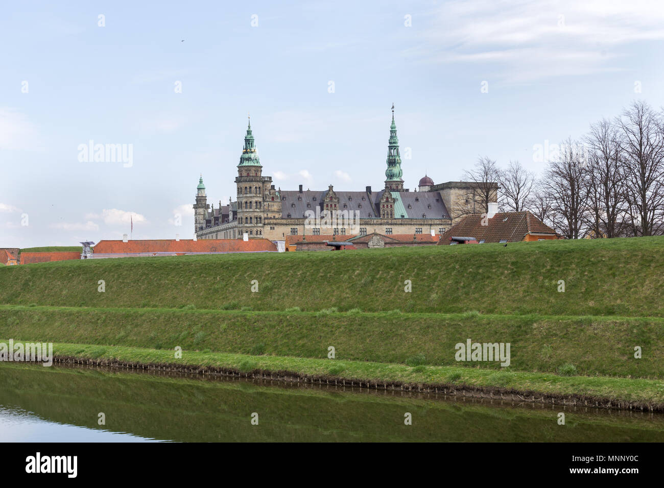 Kronborg Castle in Denmark - Stock Image