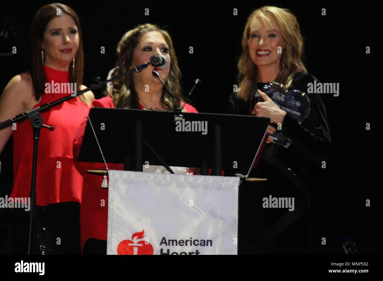 Hollywood, California, USA. 17th May, 2018. I15986CHW.The American Heart Association Presents The 3rd Annual ROCK THE RED Music Benefit .Avalon Hollywood, Los Angeles, CA USA.05/17/2018.WENDY WILSON, CARNIE WILSON AND CHYNNA PHILLIPS . © Clinton H.Wallace/Photomundo International/ Photos Inc Credit: Clinton Wallace/Globe Photos/ZUMA Wire/Alamy Live News - Stock Image