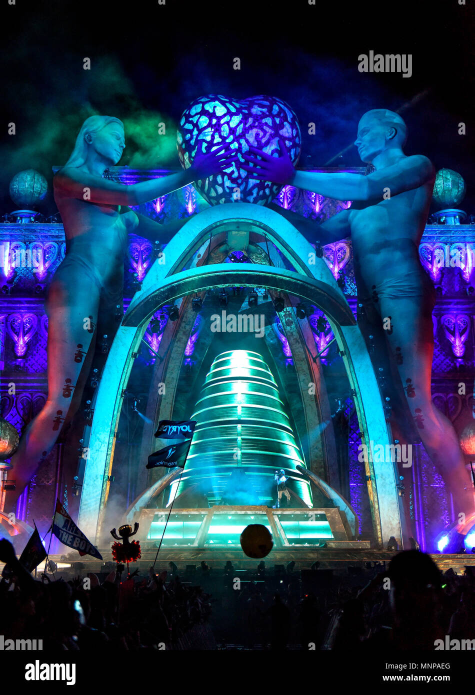 Las Vegas, Nevada,  USA. May 18, 2018 EDC Festival, Kinetic Field  Stage day one, Credit: Ken Howard/Alamy Live News - Stock Image
