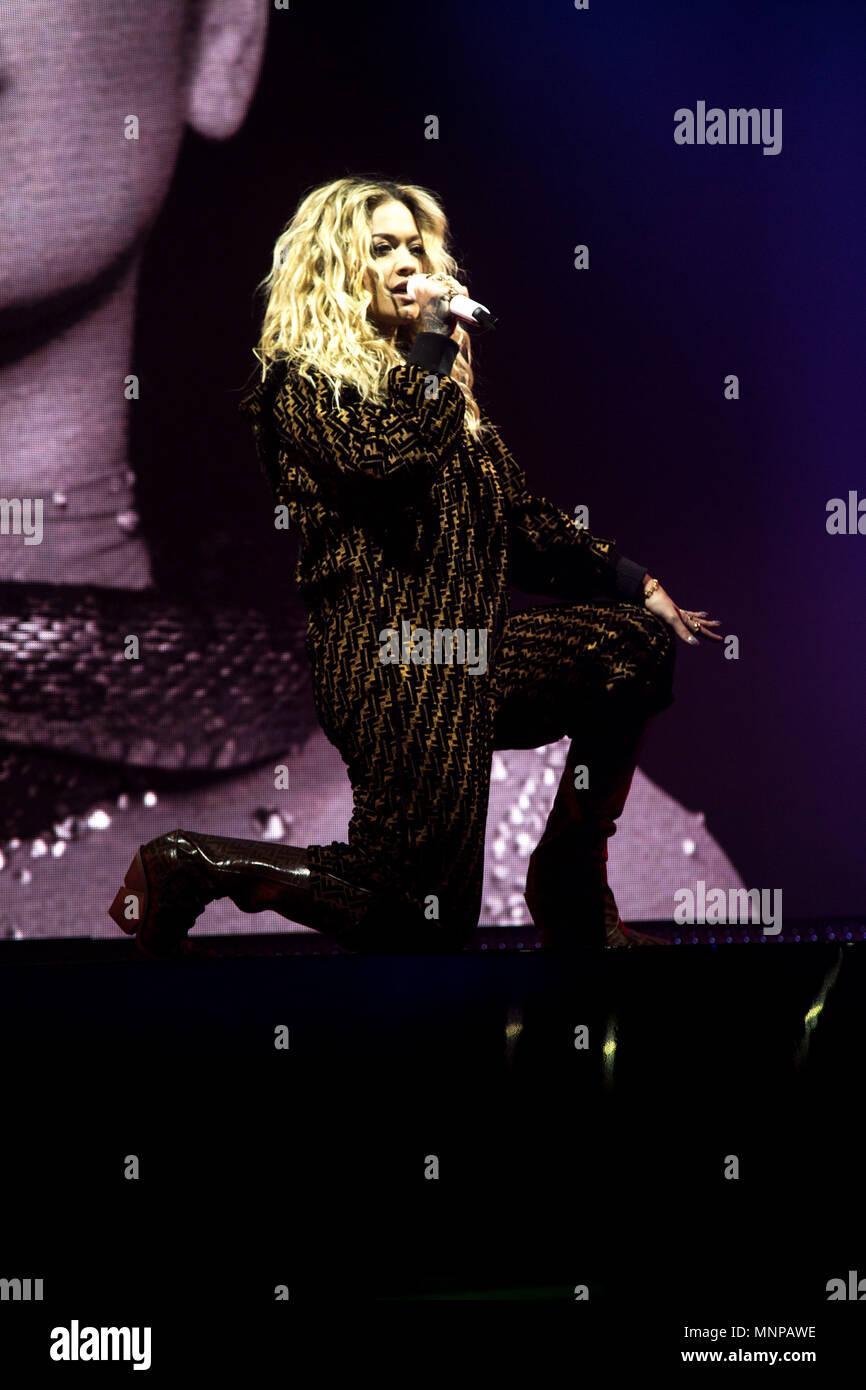 London, UK, 18 May 2018. Rita Ora performing 02 Academy Brixton, London - 18 May 2018 Credit: Tom Rose/Alamy Live News Stock Photo