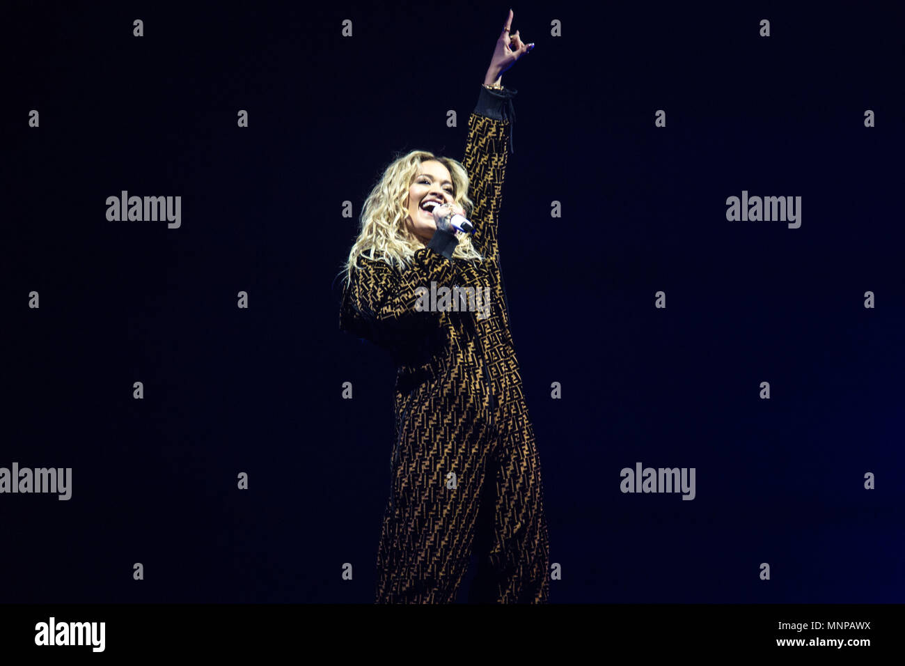 London, UK, 18 May 2018. Rita Ora performing 02 Academy Brixton, London - 18 May 2018 Credit: Tom Rose/Alamy Live News Stock Photo