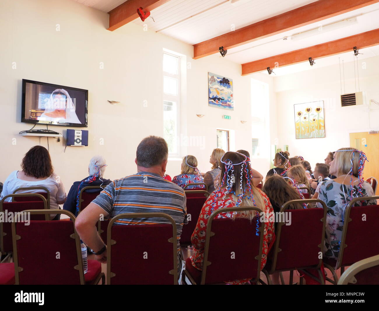 Queenborough, Kent, UK. 19th May 2018. People watch the ceremony at ...