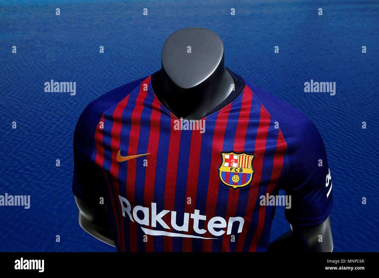 official photos 1a60f 06834 Detail of Barcelona's FC new jersey for the 2018-2019 season ...